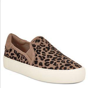UGG Jass Exotic Leopard Print Calf Hair Sneakers